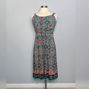 American Living Kelly Green Paisley Dress
